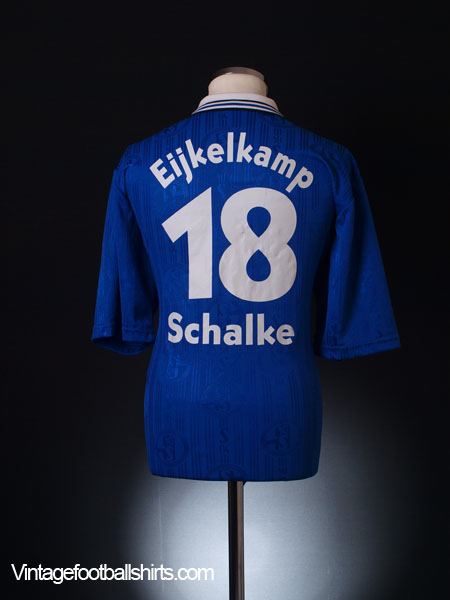 1997-98 Schalke Home Shirt Eijkelkamp #18 L