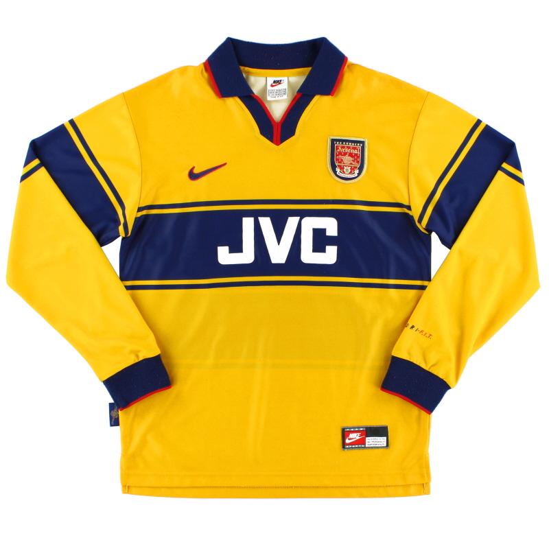 1997-99 Arsenal Away Shirt L/S XL