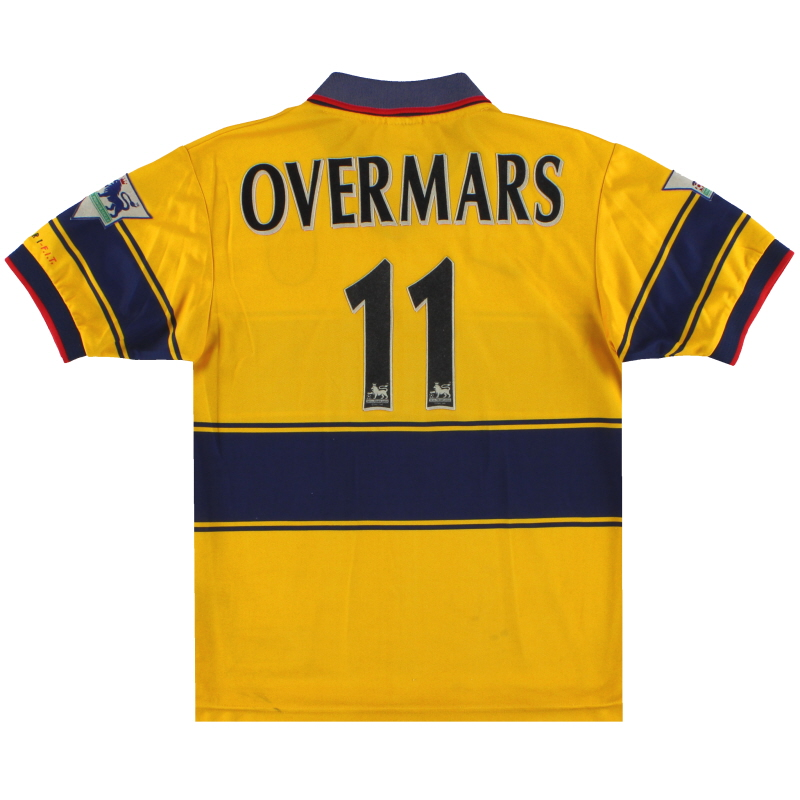 1997-99 Arsenal Nike Away Shirt Overmars #11 L.Boys