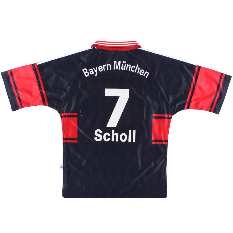1997-99 Bayern Munich adidas Home Shirt Scholl #7 S - 085293
