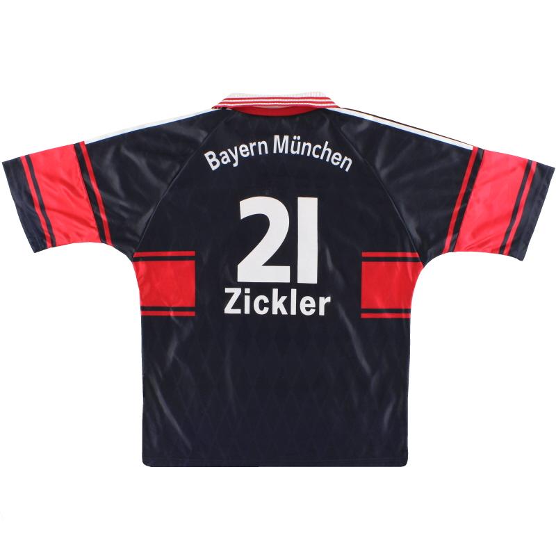 1997-99 Bayern Munich adidas Home Shirt Zickler #21 L