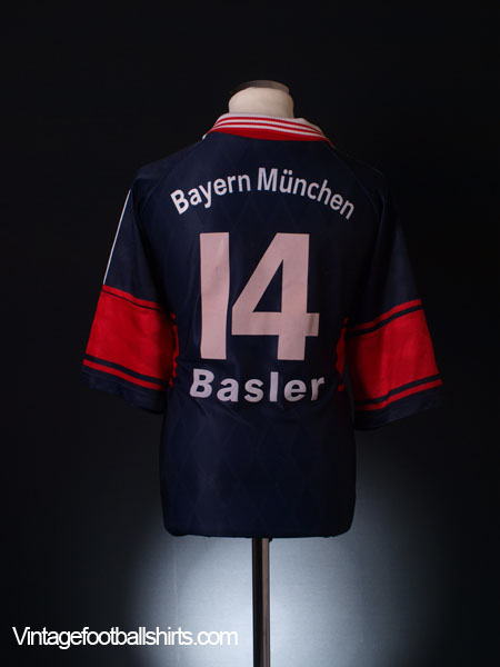 1997-99 Bayern Munich Home Shirt Basler #14 XL