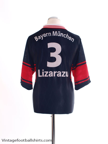 1997-99 Bayern Munich Home Shirt Lizarazu #3 L
