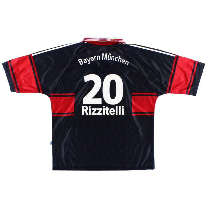 1997-99 Bayern Munich Home Shirt Rizzitelli #20 XL