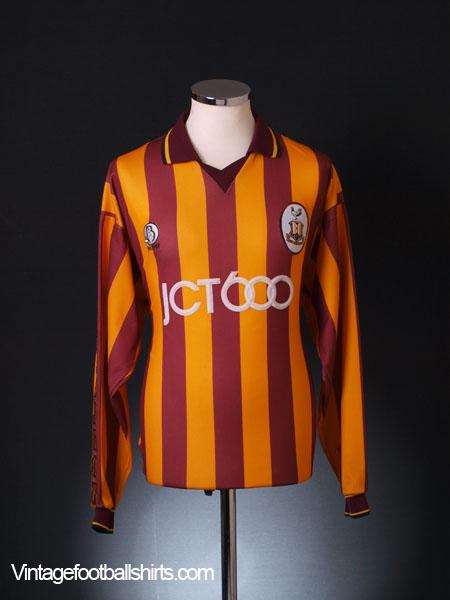 1997-99 Bradford City Home Shirt L/S L