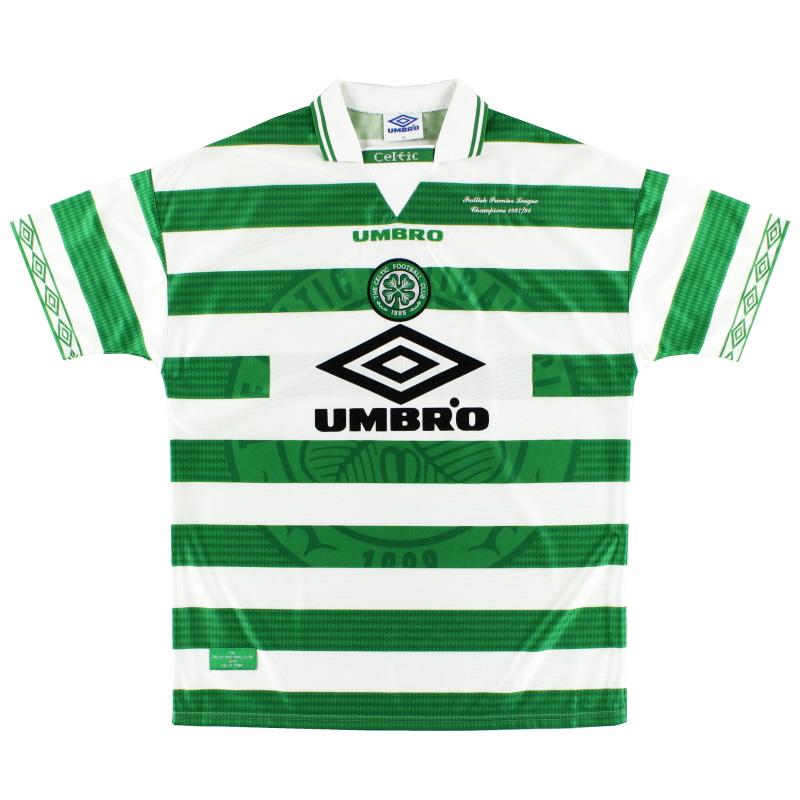 1997-99 Celtic Umbro 'Champions' Home Shirt XL