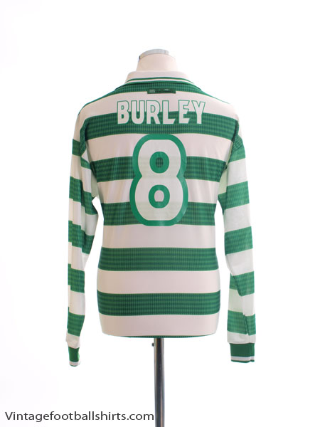 1997-99 Celtic Home Shirt Burley #8 L/S M