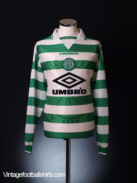 1997-99 Celtic Home Shirt L/S M