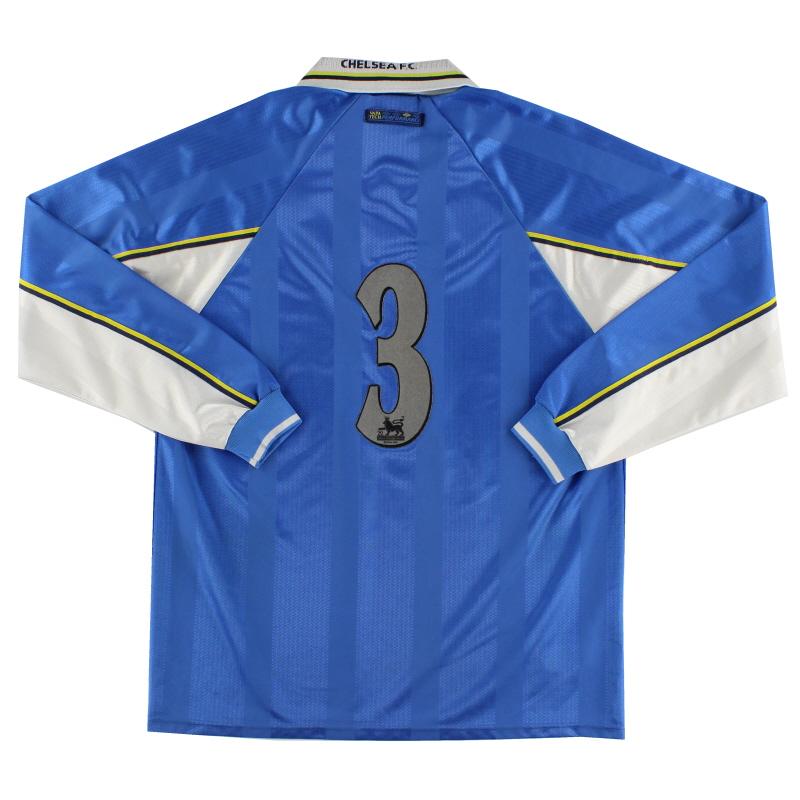 1997-99 Chelsea Home Shirt L/S #3 XL