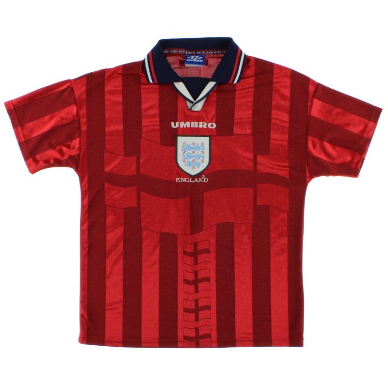 1997-99 England Away Shirt L - 735010
