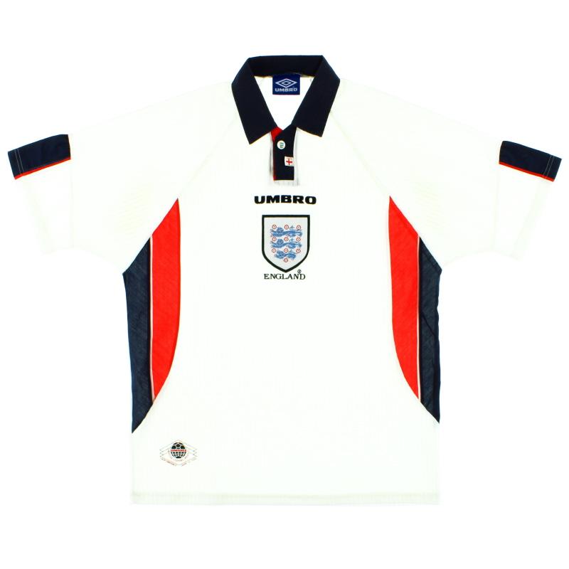 1997-99 England Umbro Home Shirt XL