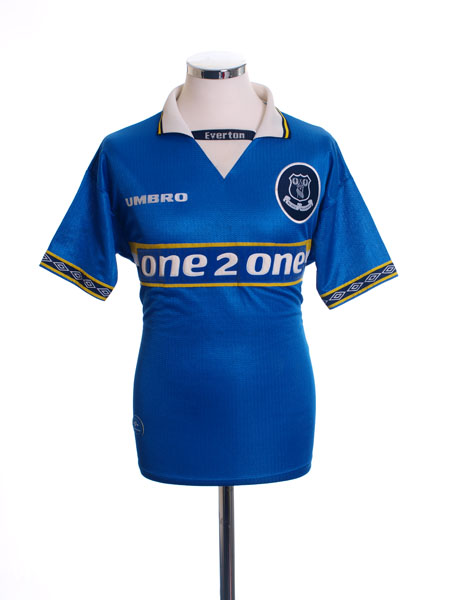 1997-99 Everton Home Shirt L