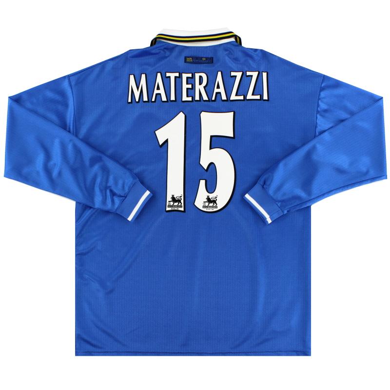 1997-99 Everton Home Shirt Materazzi #15 L/S XL
