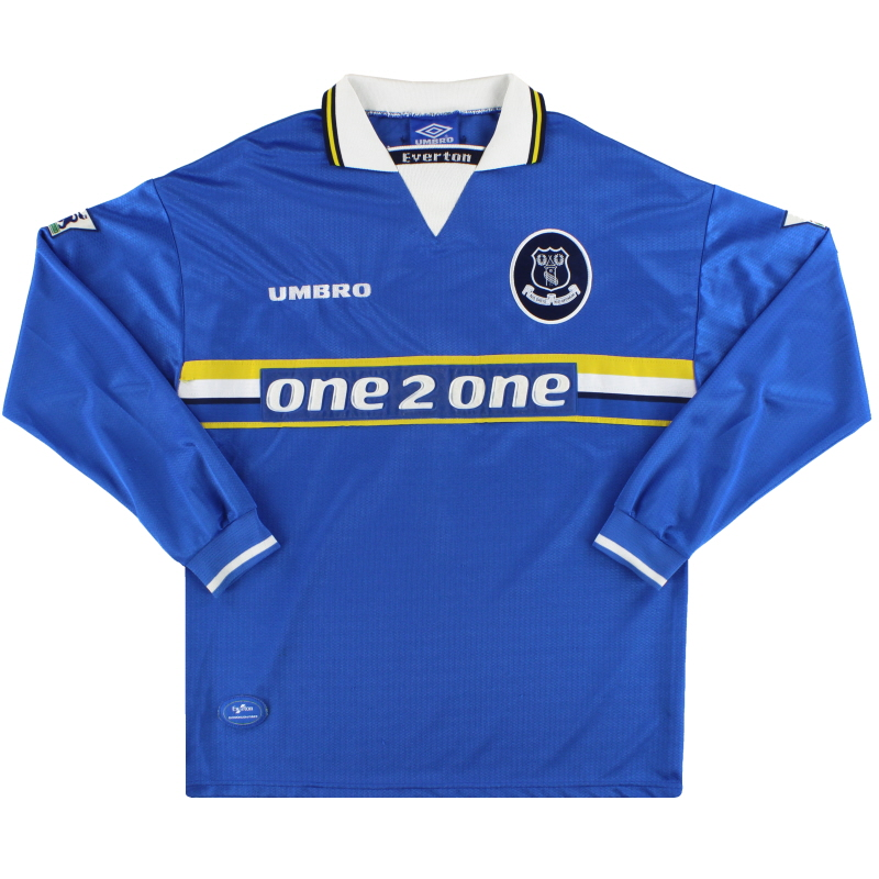1997-99 Everton Umbro Home Shirt L/S L