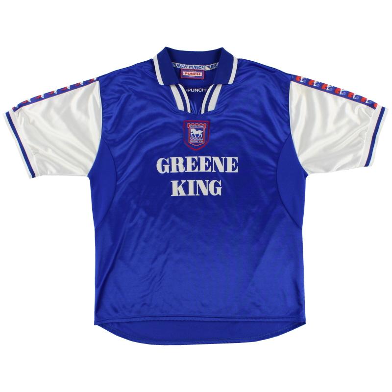 1997-99 Ipswich Punch Home Shirt XL