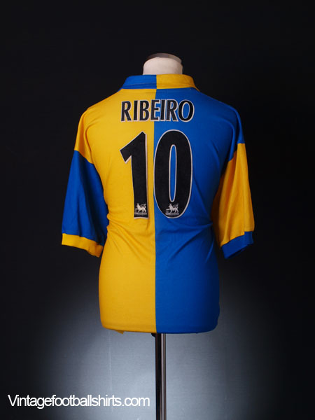 1997-99 Leeds Away Shirt Ribeiro #10 L