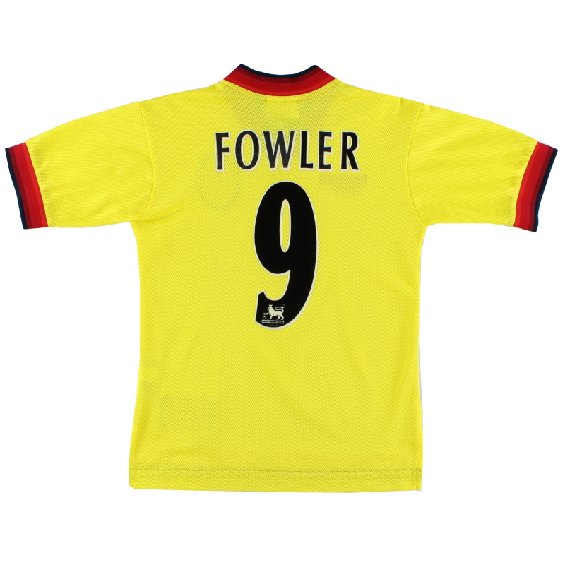 1997-99 Liverpool Away Shirt Fowler #9 L.Boys