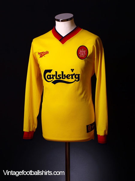 1997-99 Liverpool Away Shirt L/S XL