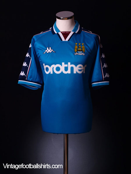 1997-99 Manchester City Home Shirt S