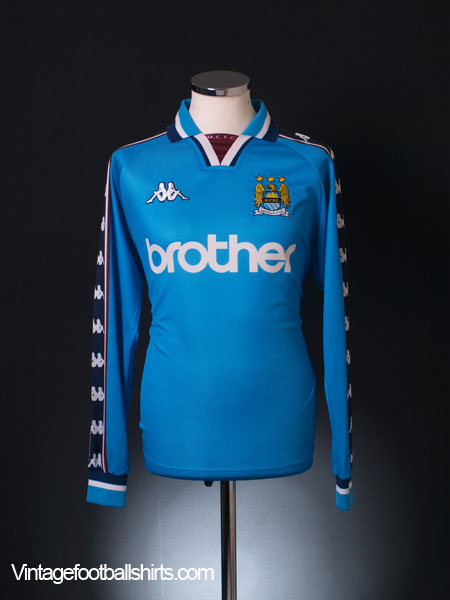 1997-99 Manchester City Home Shirt L/S L