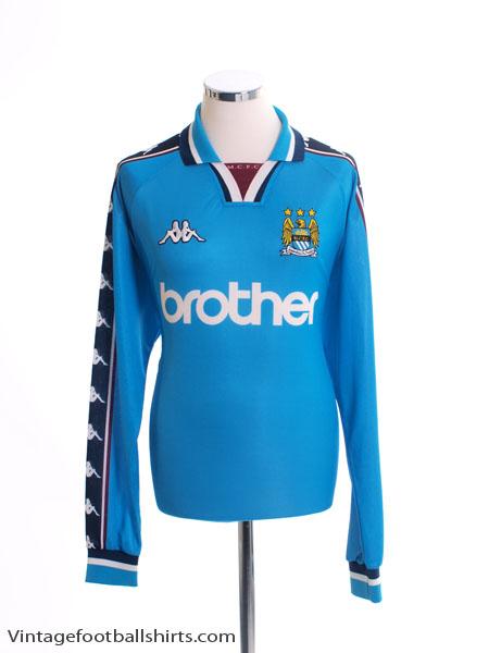 1997-99 Manchester City Home Shirt L/S XL