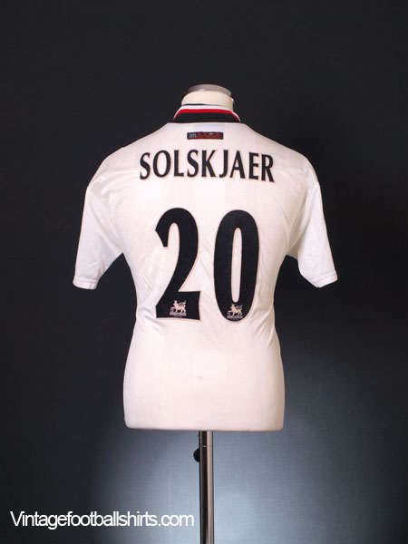 1997-99 Manchester United Away Shirt Solskjaer #20 Y