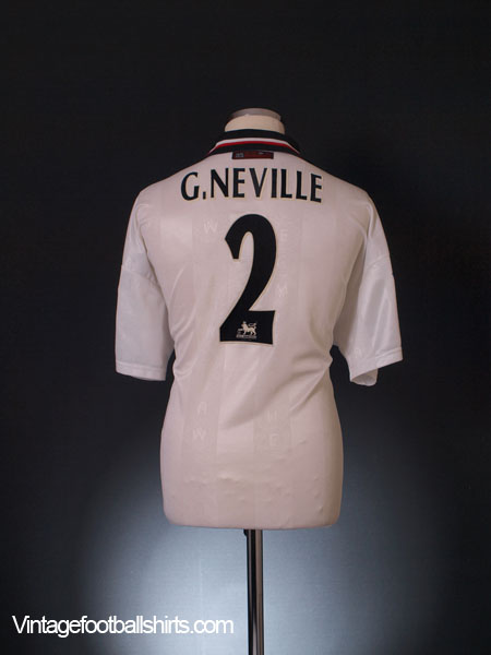 1997-99 Manchester United Away Shirt G.Neville #2 XL