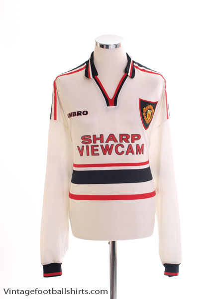 1997-99 Manchester United Away Shirt L/S XXL