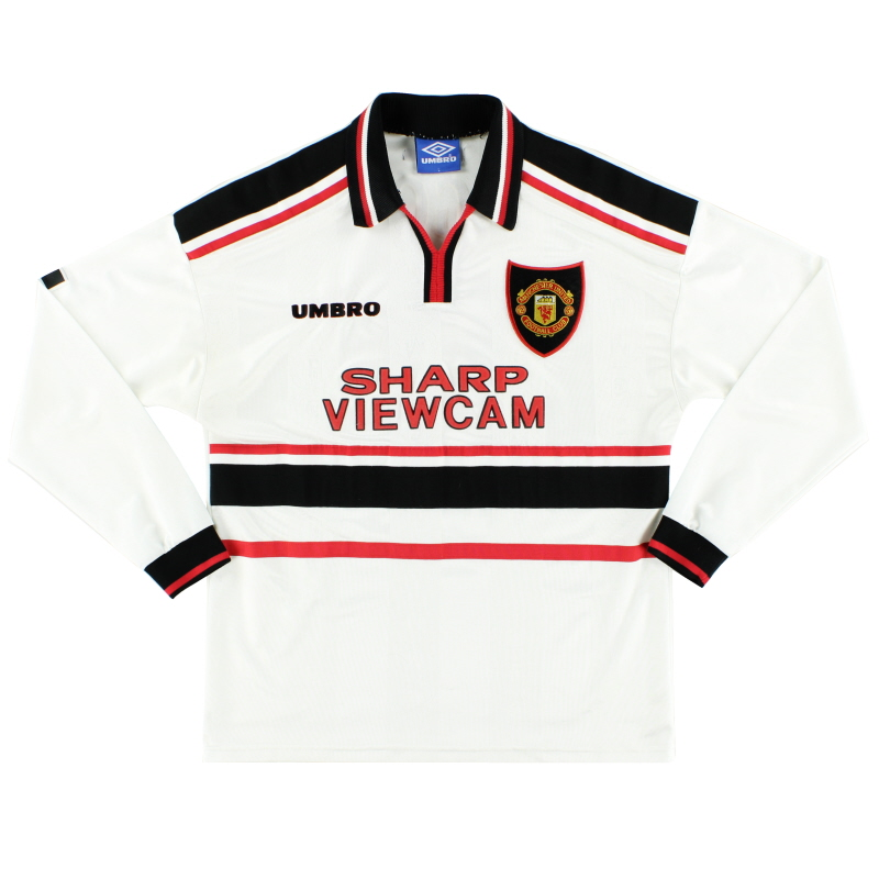 1997-99 Manchester United Away Shirt L/S L