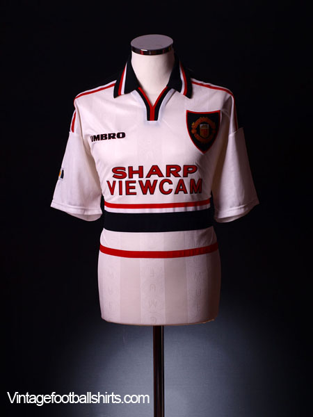 1997-99 Manchester United Away Shirt *Mint* Youth