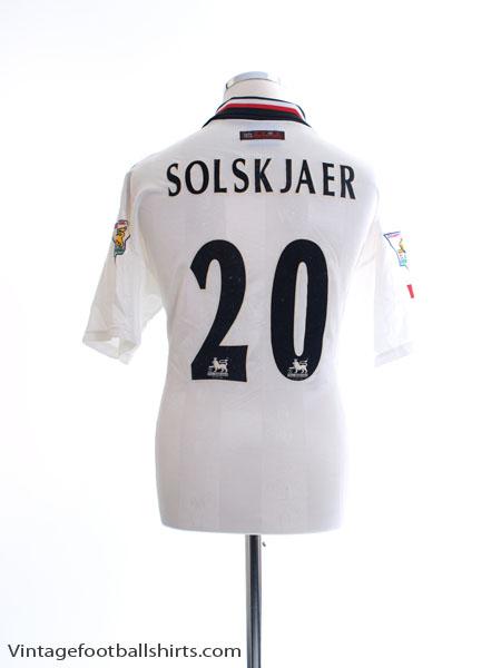 1997-99 Manchester United 'Champions' Away Shirt Solskjaer #20 L