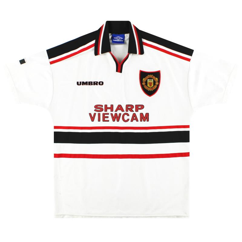 1997-99 Manchester United Umbro Away Shirt XL