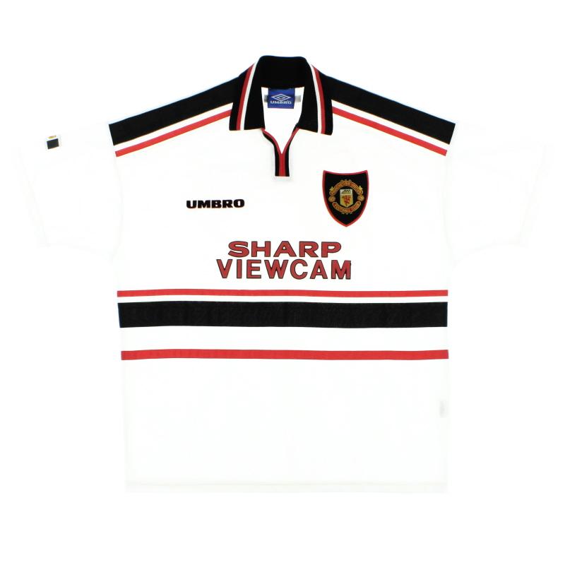 1997-99 Manchester United Umbro Away Shirt M