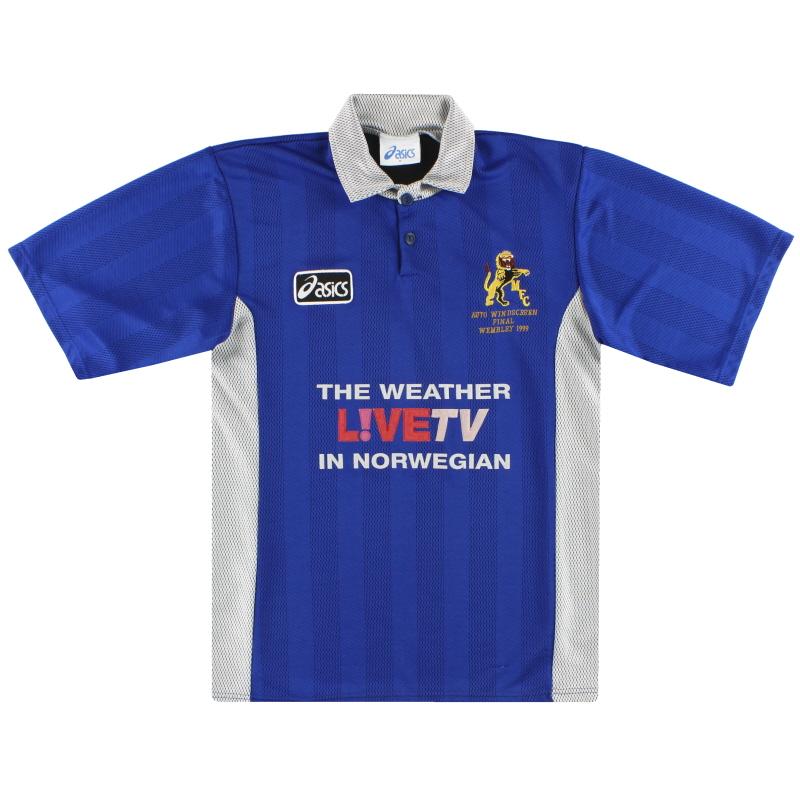 1997-99 Millwall Home Asics 'Auto Windscreen Final' Shirt M