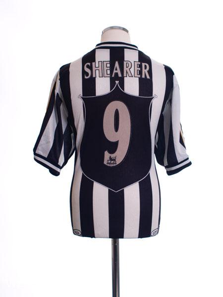 0bebfbef874 1997-99 Newcastle Home Shirt Shearer  9 L for sale