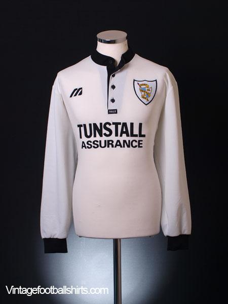 1997-99 Port Vale Home Shirt L/S XL