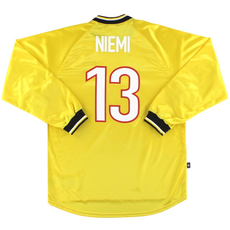 1997-99 Rangers Nike Goalkeeper Shirt Niemi #13 L
