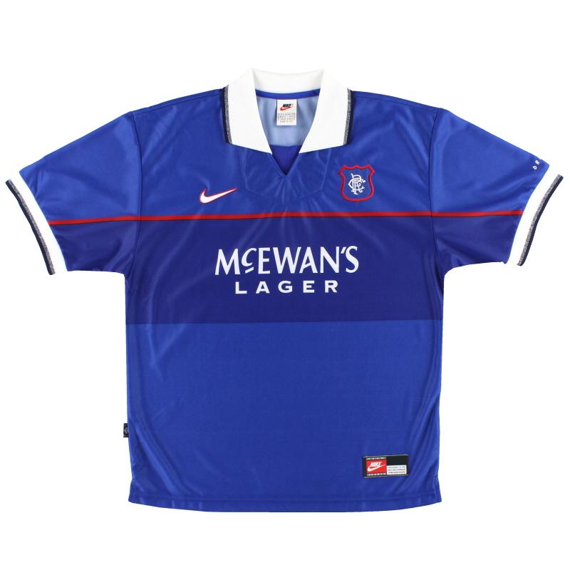 1997-99 Rangers Nike Home Shirt XL