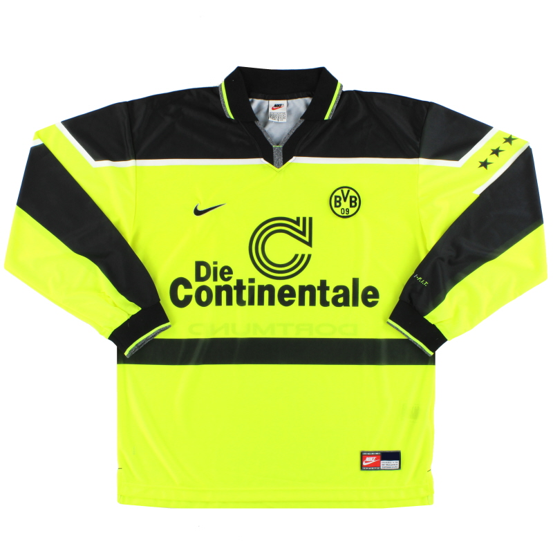 1997 Borussia Dortmund Nike Home Shirt L/S XL