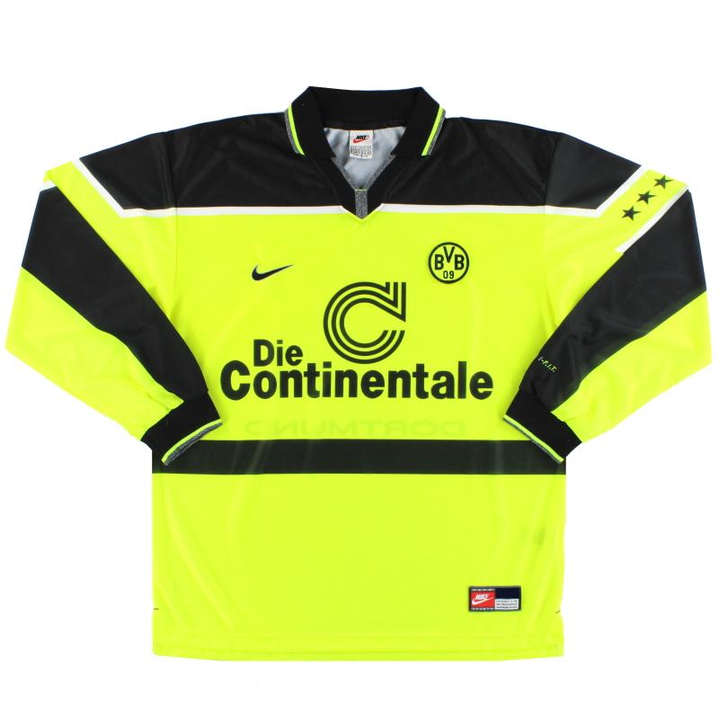 1997 Borussia Dortmund Nike Home Shirt L/S *Mint* L