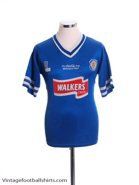 1997 Leicester 'Coca Cola Cup Winners' Home Shirt S