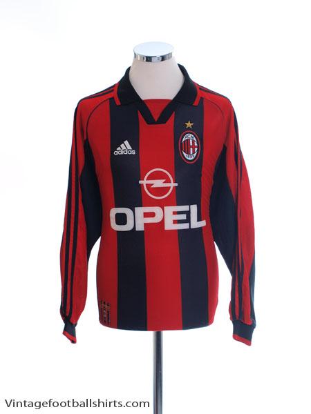 1998-00 AC Milan Home Shirt L/S L