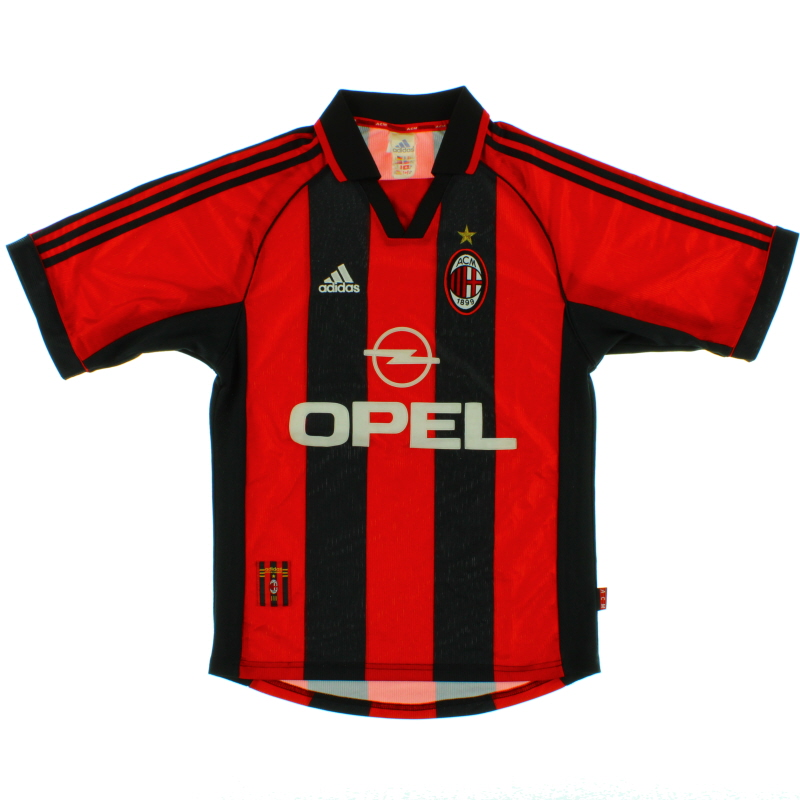 1998-00 AC Milan Home Shirt S - 612760
