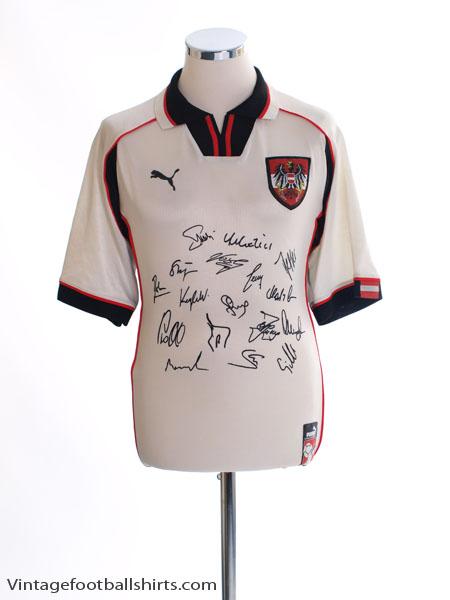 1998-00 Austria Signed Home Shirt L
