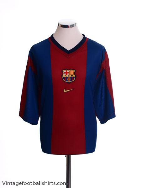 1998-00 Barcelona Basic Home Shirt M
