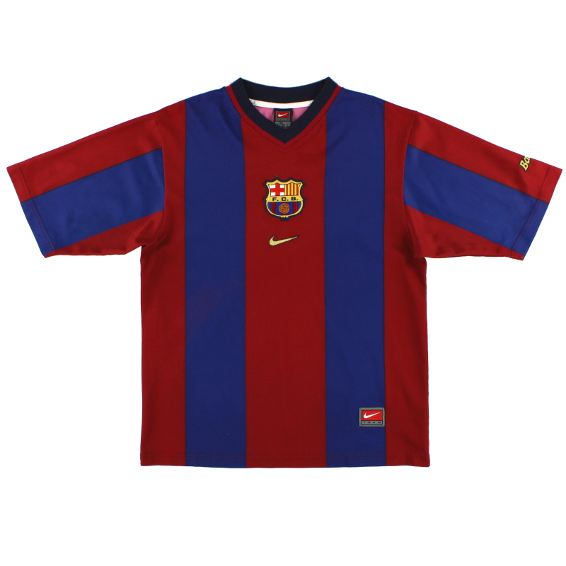 1998-00 Barcelona Basic Home Shirt S