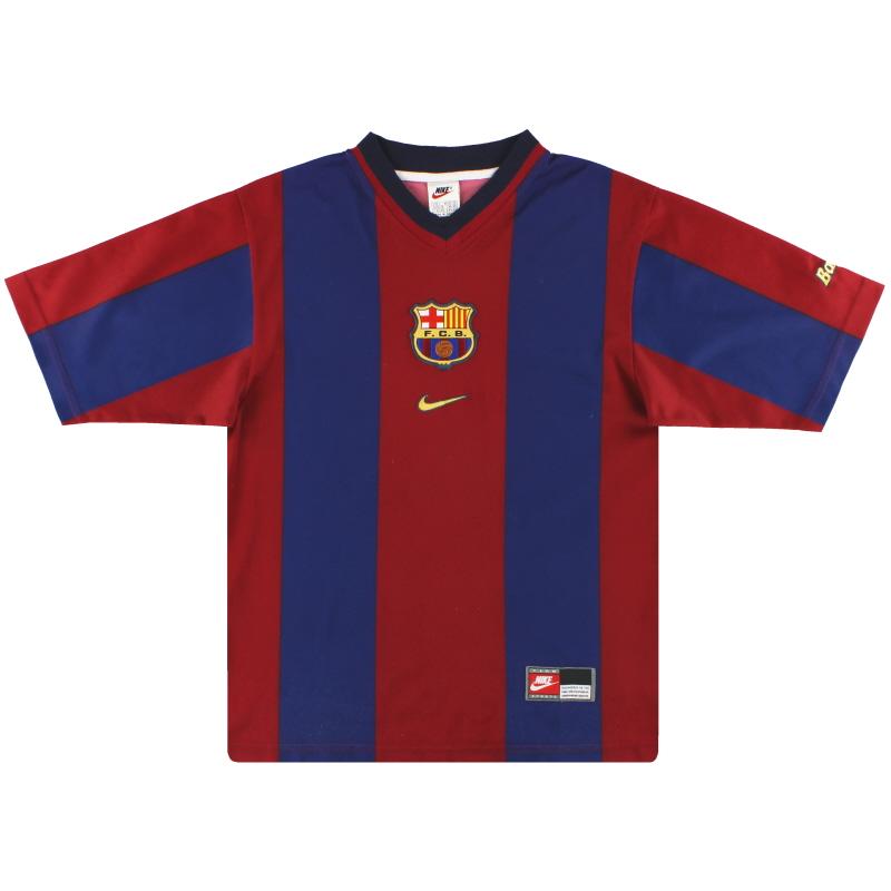 1998-00 Barcelona Nike Basic Home Shirt *Mint* L
