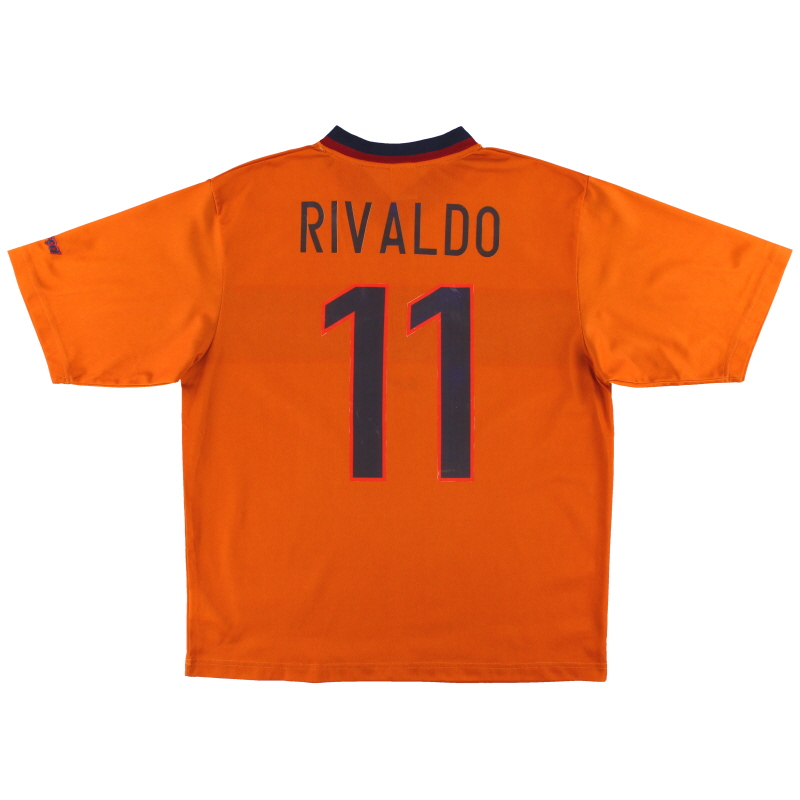 1998-00 Barcelona Nike Basic Third Shirt Rivaldo #11 L