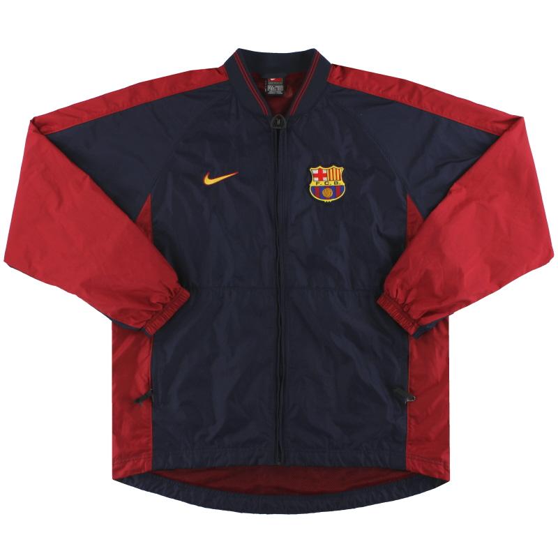 1998-00 Barcelona Nike Full Zip Rain Jacket M