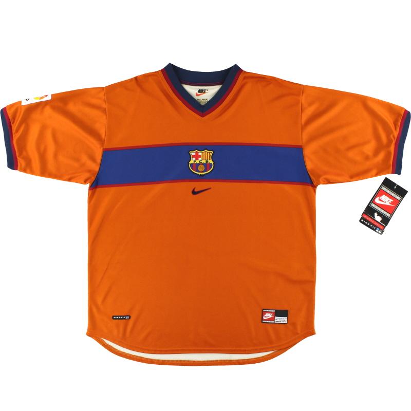 1998-00 Barcelona Nike Third Shirt *w/tags* XL